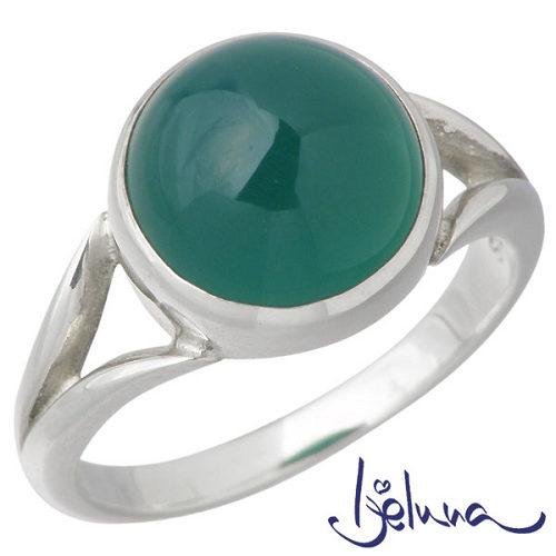 アイジェルナ Ijeluna シルバーリング 10mmグリーンアゲートリング 指輪 アクセサリー 7~13号 シルバー925 スターリングシルバー IJ-028RS-GREEN