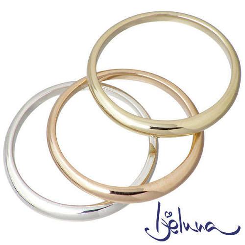 Ijeluna【アイジェルナ】 シルバー & ゴールドセットリング 指輪 アクセサリー 7~13号 シルバー925 スターリングシルバー IJ-030RGP-GY-S