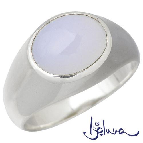 Ijeluna【アイジェルナ】 シルバーリング 8x10mmブルーカルセドニーリング 指輪 アクセサリー 7~13号 シルバー925 スターリングシルバー IJ-039RS-BLUE