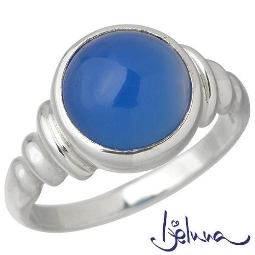 Ijeluna【アイジェルナ】 シルバーリング 10mmブルーオニキスリング 指輪 アクセサリー 7~13号 シルバー925 スターリングシルバー IJ-044RS-BLUE