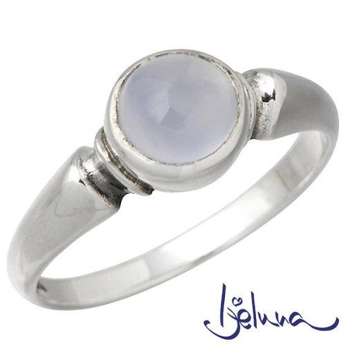 Ijeluna【アイジェルナ】 シルバーリング 6mmブルーカルセドニーリング 指輪 アクセサリー 7~13号 シルバー925 スターリングシルバー IJ-045RS-BLUE
