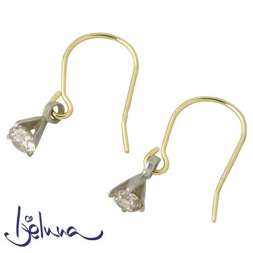 Ijeluna【アイジェルナ】 K18ホワイトゴールド & K18 イエローゴールド ダイヤモンドピアス アクセサリー 2個売り 両耳用 IJ-048PW