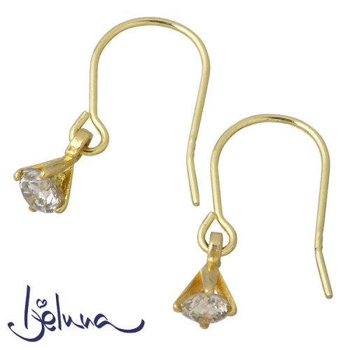 Ijeluna【アイジェルナ】 K18 イエローゴールド ダイヤモンドピアス アクセサリー 2個売り 両耳用 IJ-048PY