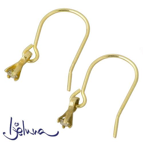 Ijeluna【アイジェルナ】 K18 イエローゴールド ダイヤモンドピアス 2個売り 両耳用 IJ-049PY