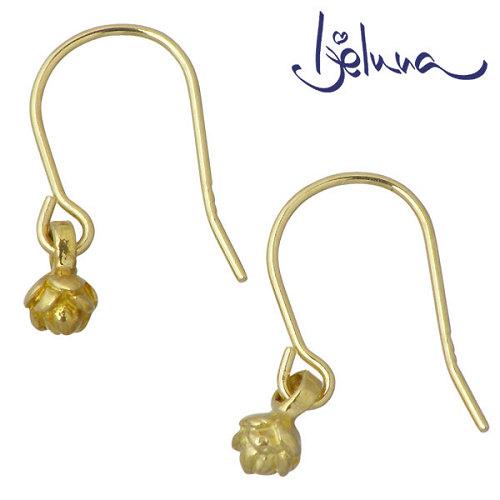 Ijeluna【アイジェルナ】 K18 イエローゴールド 蓮の花ピアス 2個売り 両耳用 IJ-054PY