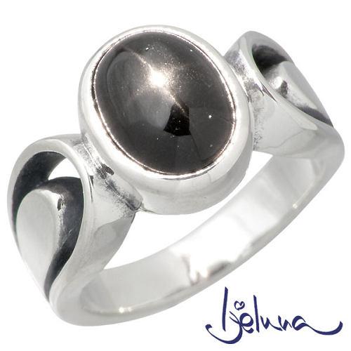 Ijeluna【アイジェルナ】 カトラリーリング 8x10mmダイオプサイトシルバーリング 指輪 アクセサリー 7~17号 シルバー925 スターリングシルバー IJ-064RS-DS