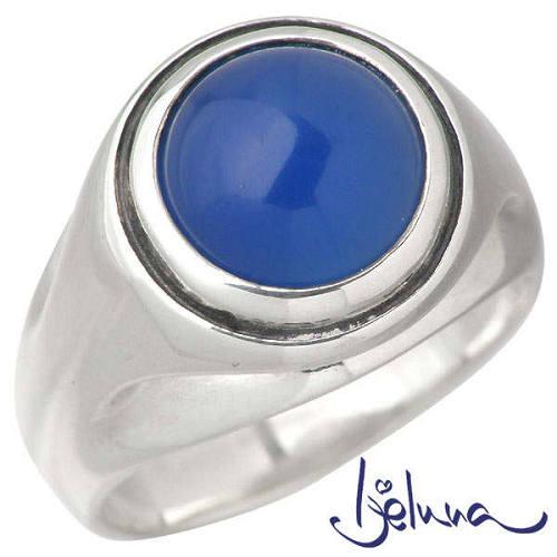 Ijeluna【アイジェルナ】 フローティングリング 10mmブルーオニキスシルバーリング 指輪 アクセサリー 7~17号 シルバー925 スターリングシルバー IJ-066RS-BLUE