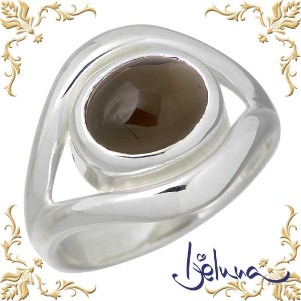 Ijeluna【アイジェルナ】 リップ シルバーリング 8X10mm スモーキークォーツリング 指輪 7~17号 シルバーアクセサリー シルバー925 IJ-080RS-SQ