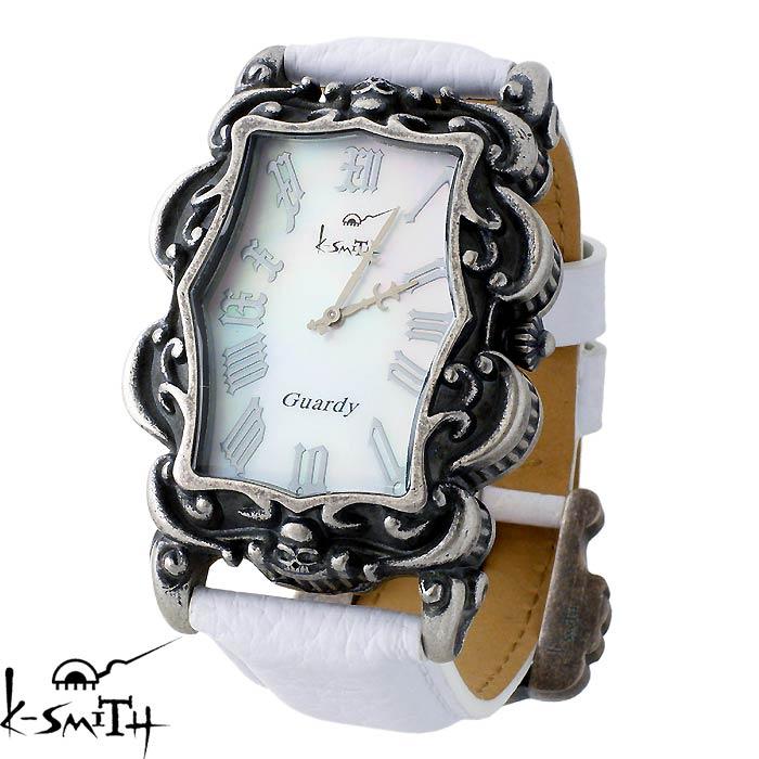 K-SMITH【ケースミス】腕時計 Guardy ガーディ ホワイト シェル メンズ 時計 Guardy-WHS