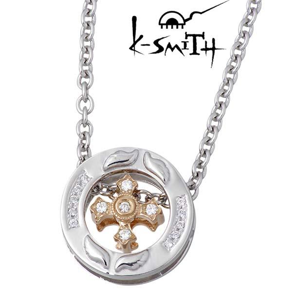 K-SMITH【ケースミス】 SWING クロス シルバー ネックレス キュービック 十字架 シルバーアクセサリー シルバー925 KI-1278206-WCZ