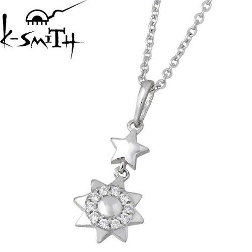 K-SMITH【ケースミス】 惑星 シルバー ネックレス アクセサリー キュービック 太陽 シルバー925 スターリングシルバー KS-00104