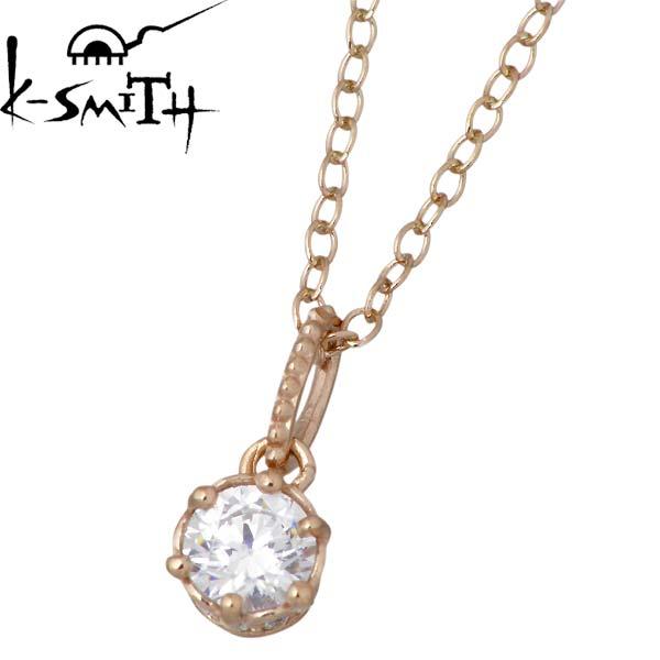 K-SMITH【ケースミス】 キュービック シルバー ネックレス アクセサリー 一粒石 シルバー925 スターリングシルバー KS00247