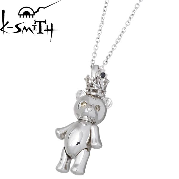 K-SMITH【ケースミス】 K-SMITH Bear シルバー ネックレス ダイヤモンド キュービック 王冠 シルバーアクセサリー シルバー925 KSM-20-B