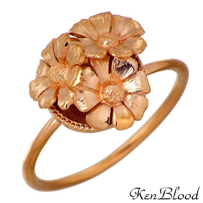 KEN BLOOD【ケンブラッド】K10 リング 指輪 3~15号 レディース ピンキー デイジー フラワー DS-04R