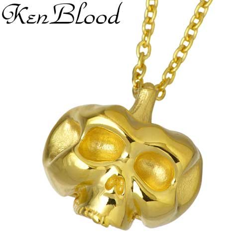 KEN BLOOD【ケンブラッド】 パンプキン スカル シルバー ネックレス ダイヤモンド Diamond かぼちゃ カボチャ シルバーアクセサリー シルバー925 KB-CL-06