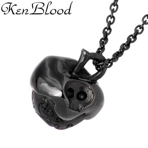 KEN BLOOD【ケンブラッド】 ポイズン アップル シルバー ネックレス ダイヤモンド Diamond 毒 りんご リンゴ 林檎 黒 シルバーアクセサリー シルバー925 KB-CL-08