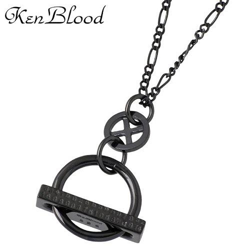 KEN BLOOD【ケンブラッド】 サイクル シルバー ネックレスS ブラック シルバー925 スターリングシルバー KB-KP-283BK
