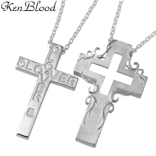 KEN BLOOD【ケンブラッド】 ラブ クロス シルバー ネックレス アクセサリー シルバー925 スターリングシルバー KB-KP-54