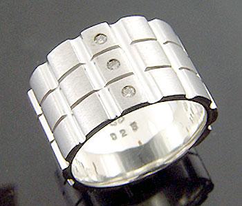 KEN BLOOD【ケンブラッド】 3ダイヤモンド シルバー リング 指輪 アクセサリー シルバー925 スターリングシルバー KB-KR-117