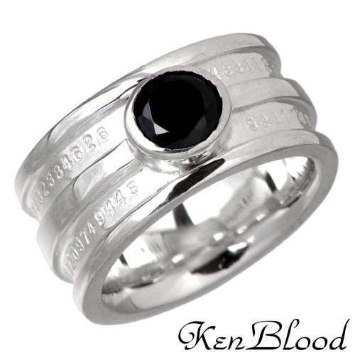 KEN BLOOD【ケンブラッド】 キュービック シルバー リング ブラックキュービック 7号~23号 指輪 BKCZ シルバーアクセサリー シルバー925 KB-KR-161SV