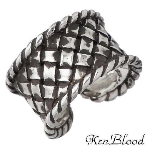KEN BLOOD【ケンブラッド】 編みこみ シルバー リング 指輪 アクセサリー シルバー925 スターリングシルバー KB-KR-216