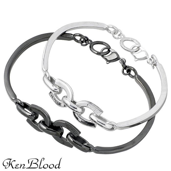おすすめ特集 KEN BLOOD ケンブラッド シルバー 至上 ペア ブレスレット 送料無料 ホースシュー アクセサリー ダイヤモンド KP-279-P 馬蹄