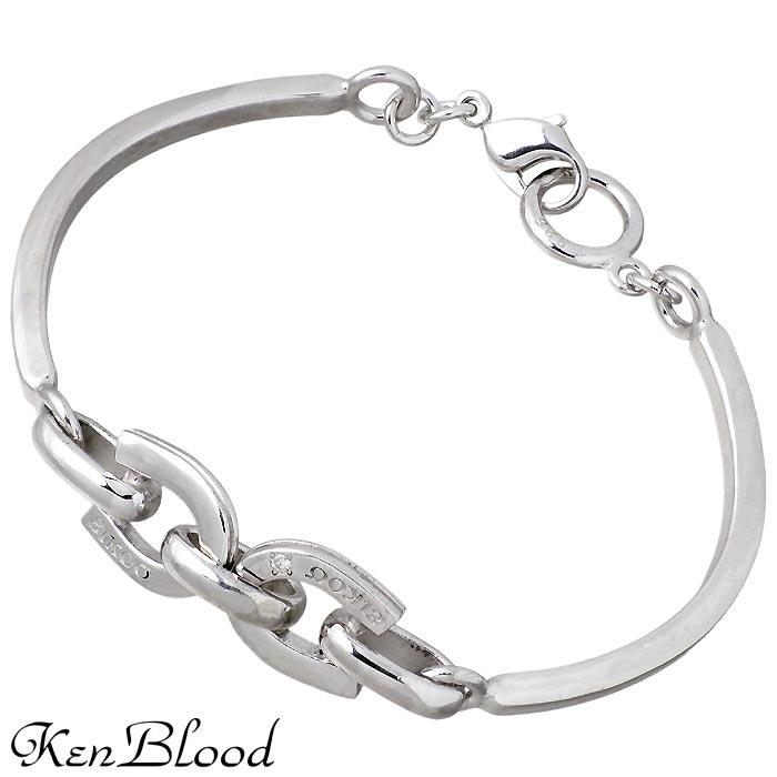 KEN BLOOD【ケンブラッド】シルバー ブレスレット レディース ダイヤモンド ホースシュー 馬蹄 KP-279L