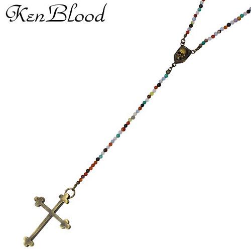 【史上最も激安】 KEN BLOOD【ケンブラッド】 クロス ジェネロシティー クロス ミックスカラー ネックレス ネックレス KP-339AG KP-339AG, 測定機器マーケット:b5845d6e --- rukna.4px.tech