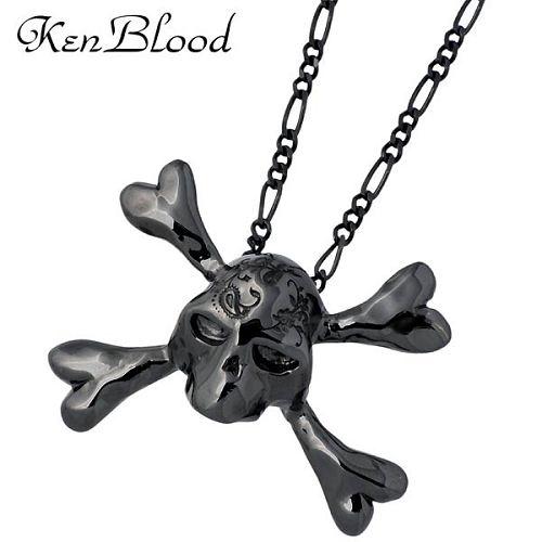 KEN BLOOD【ケンブラッド】 トライアンフ シルバー ブラック スカル ネックレス アクセサリー シルバー925 スターリングシルバー KP-354BK