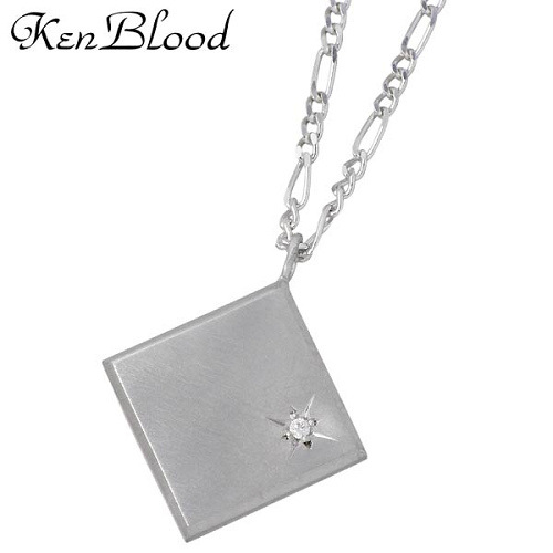 KEN BLOOD【ケンブラッド】 シルバー ネックレス アクセサリー ダイヤモンド マット仕上げ メンズ シルバー925 スターリングシルバー KP-369M
