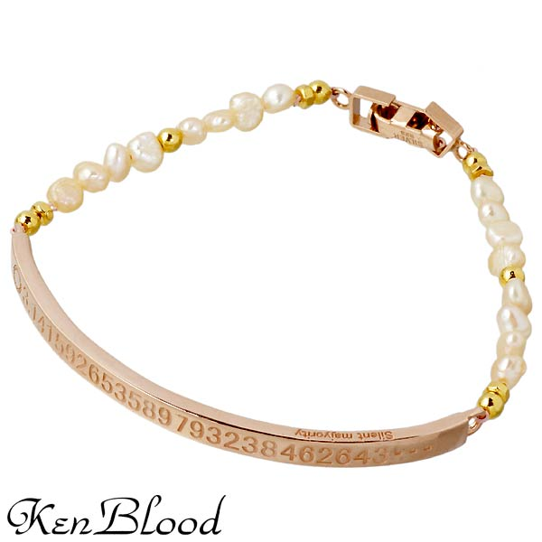 KEN BLOOD【ケンブラッド】 シルバー ブレスレット 淡水パール ピンク シルバーアクセサリー シルバー925 KP-378P-PK