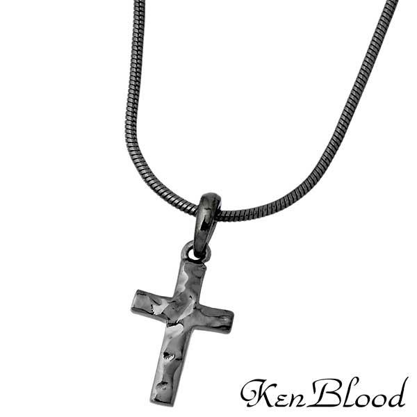 ケンブラッド KEN BLOOD クロス シルバー ネックレス アクセサリー ブラック 十字架 シルバー925 スターリングシルバー KP-392BK