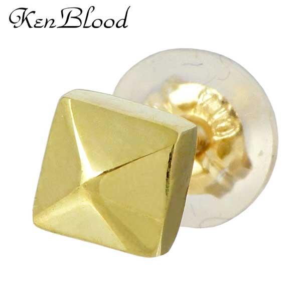 KEN BLOOD【ケンブラッド】 スタッズ K10 ゴールド ピアス アクセサリー 1個売り 片耳用 KP-395GD