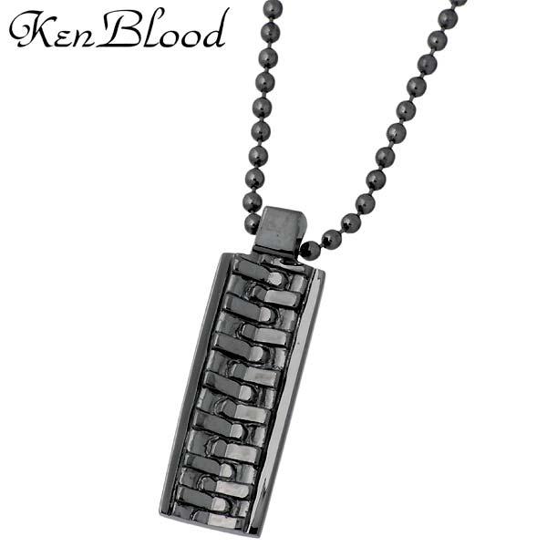 ケンブラッド KEN BLOOD ファスナー シルバー ネックレス アクセサリー ブラック シルバー925 スターリングシルバー KP-402BK