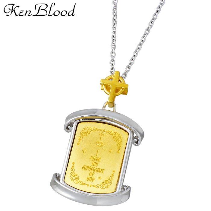 KEN BLOOD【ケンブラッド】 THE GOD シルバー ネックレス アクセサリー メンズ ゴールド KP-419