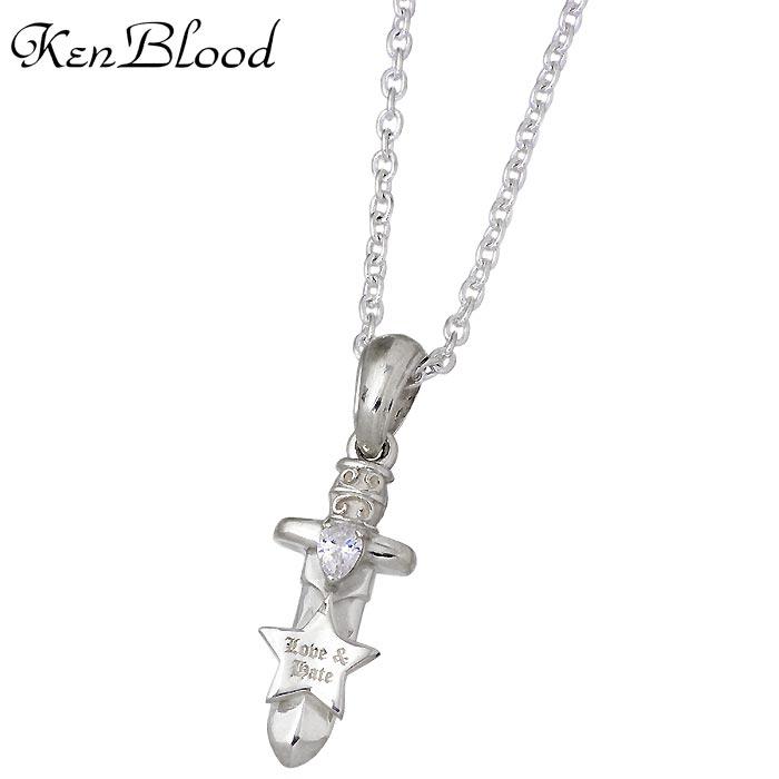 KEN BLOOD【ケンブラッド】 シルバー ネックレス アクセサリー スター キュービック メンズ レディース 星 KP-464N