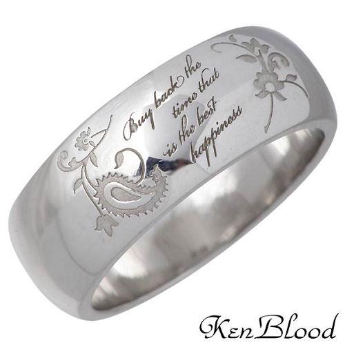 ケンブラッド KEN BLOOD ペイズリー タトゥー シルバー リングA 指輪 アクセサリー 9~25号 シルバー925 スターリングシルバー KR-224SV