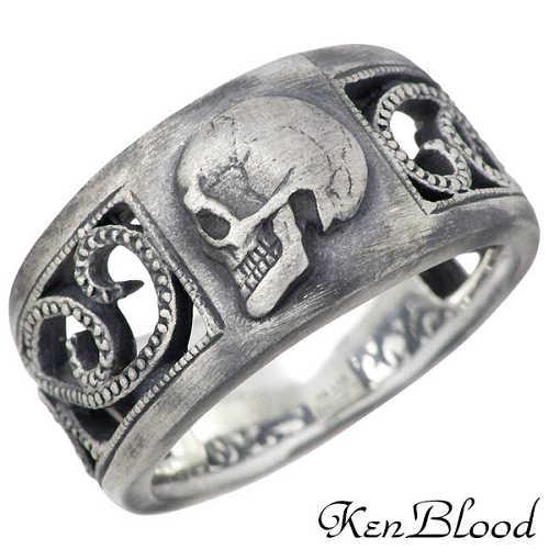 ケンブラッド KEN BLOOD モラルズ シルバー リング スカル 指輪 アクセサリー 9~23号 シルバー925 スターリングシルバー KR-226AtSV