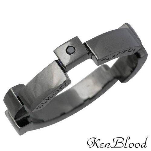 KEN BLOOD【ケンブラッド】 レシプロカル ラブ シルバー リング ブラックダイヤモンド 指輪 アクセサリー 12~23号 シルバー925 スターリングシルバー KR-232BK