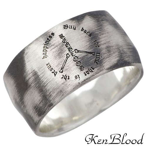 KEN BLOOD【ケンブラッド】 フリーダム シルバー リング 指輪 アクセサリー 9~25号 シルバー925 スターリングシルバー KR-233AtSV
