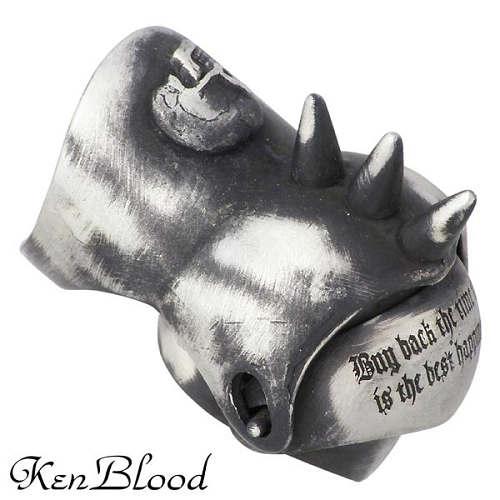 KEN BLOOD【ケンブラッド】 カーレッジ シルバー リング スカル 指輪 15~23号 シルバーアクセサリー シルバー925 KR-239AtSV