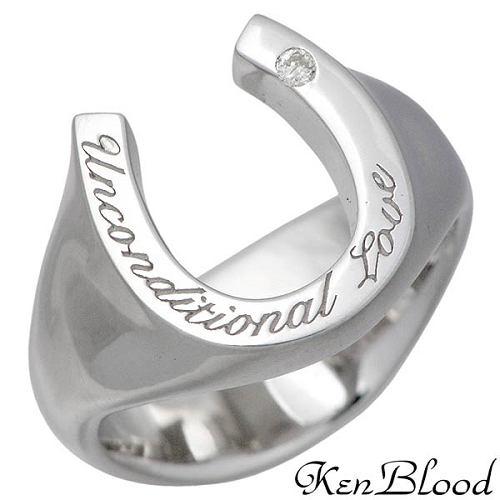 KEN BLOOD【ケンブラッド】 アフェクション シルバー リング ダイヤモンド ピンキー 指輪 アクセサリー 3~15号 シルバー925 スターリングシルバー KR-244SV