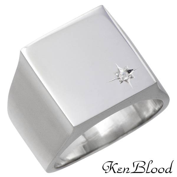 KEN BLOOD【ケンブラッド】 シルバー リング ダイヤモンド シャイン メンズ 指輪 アクセサリー 13~25号 シルバー925 スターリングシルバー KR-251P