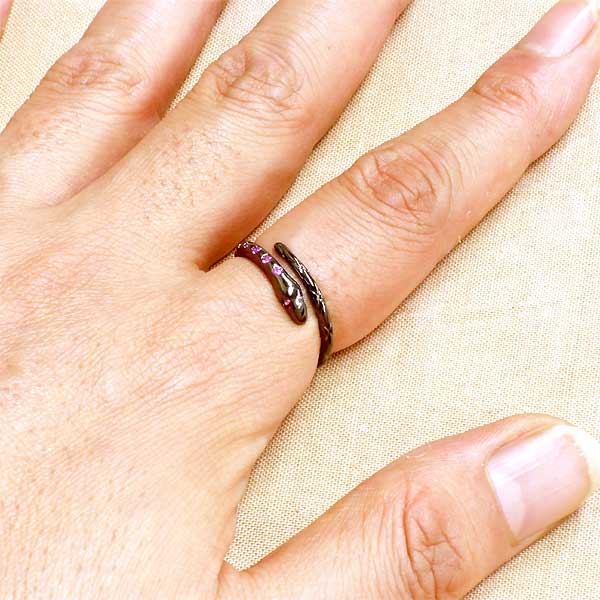 925 Silver stone rings and silver accessories No. 11-21 black KEN BLOOD silver snake ring