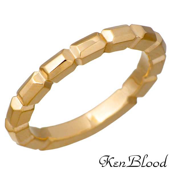 ケンブラッド KEN BLOOD バゲット シルバー リング ゴールド 指輪 アクセサリー 9~25号 シルバー925 スターリングシルバー KR-259GD