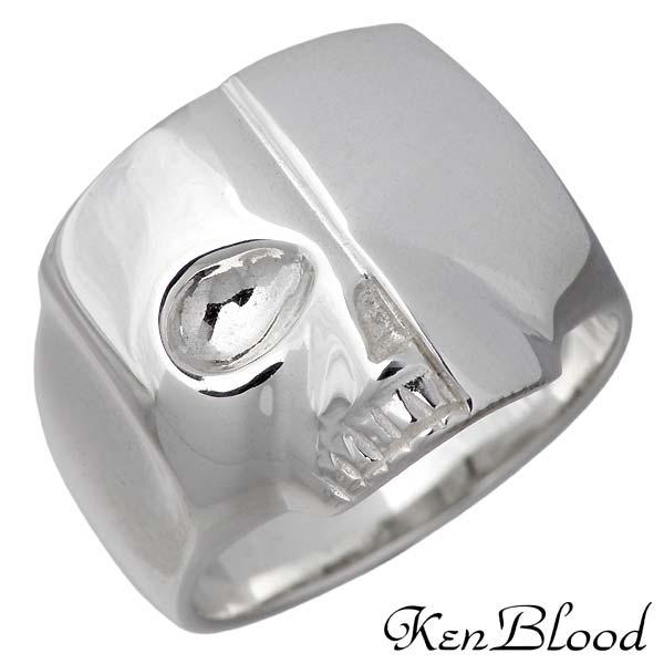 KEN BLOOD【ケンブラッド】 スカル シルバー リング 指輪 ドクロ 9~21号 シルバーアクセサリー シルバー925 KR-267SV