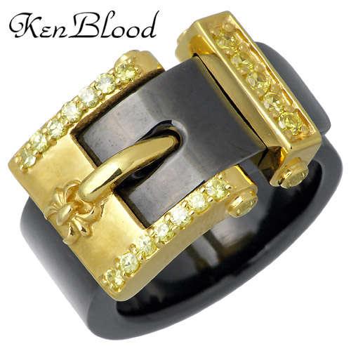 KEN BLOOD x men's Spider【ケンブラッド】 一条誠モデル ベルト シルバー リング 指輪 アクセサリー 15~27号 シルバー925 スターリングシルバー KS-08BKGD