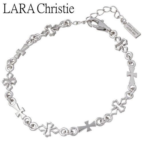 LARA Christie【ララクリスティー】 テンプルクロス シルバー ブレスレット アクセサリー ホワイト WHITE Label シルバー925 スターリングシルバー LA-B6036-W