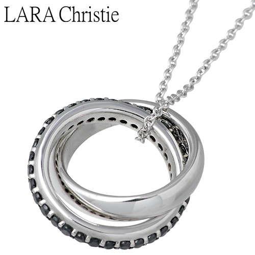 ララクリスティー LARA Christie メビウス シルバー ネックレス アクセサリー BLACK Label シルバー925 スターリングシルバー LA-P3884-B