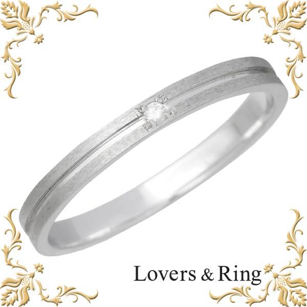 Lovers & Ring【ラバーズリング】 刻印可能 K10ホワイトゴールドリング ダイヤモンド 指輪 アクセサリー 5~23号 LSR-0602DWG